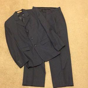 Club Class boys gray pinstripe suit